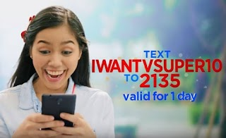 ABS CBN Mobile 10 Pesos iWant TV SUPER10 Promo with Free Facebook