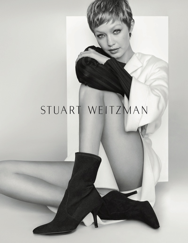 Stuart Weitzman Fall/Winter 2017 Campaign featuring Gigi Hadid