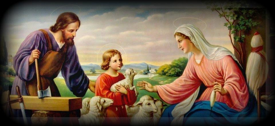 SANTA CLARA: La Sagrada Familia : Jesús, María y José.