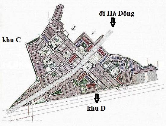 vị trí khu D - The green Daisty