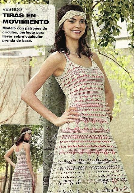 Vestido Tiras de Crochet Patron
