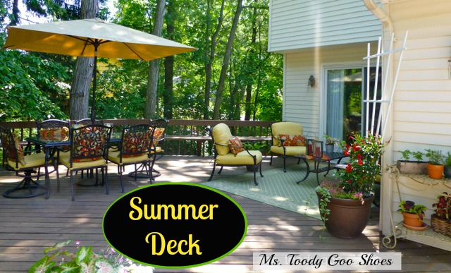 Summer Deck: My Happy Place  --- by Ms. Toody Goo Shoes