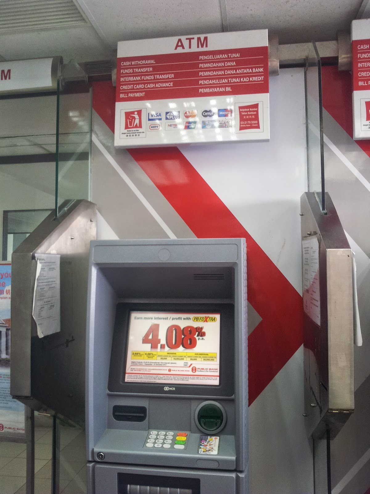 ATM Machine in Sarawak: 20  PUBLIC BANK
