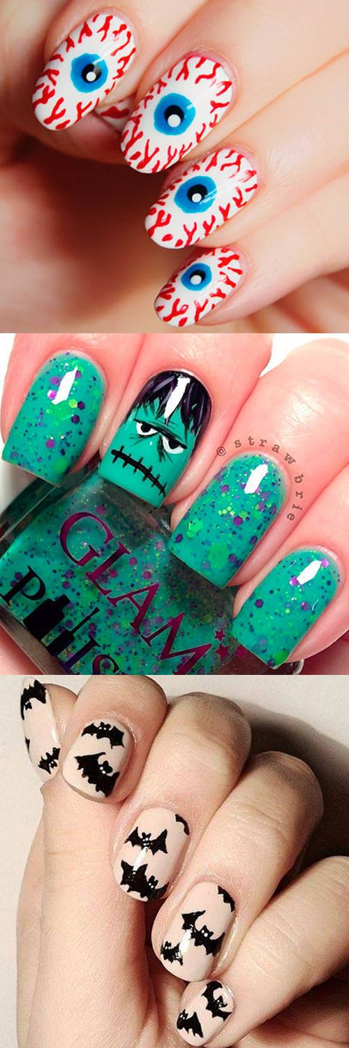 halloween nail art ideas for a cute-but-creepy mani