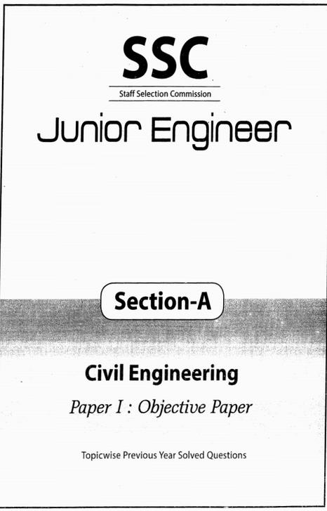 SSC JE Civil Engineering Topicwise Previous Years Solved