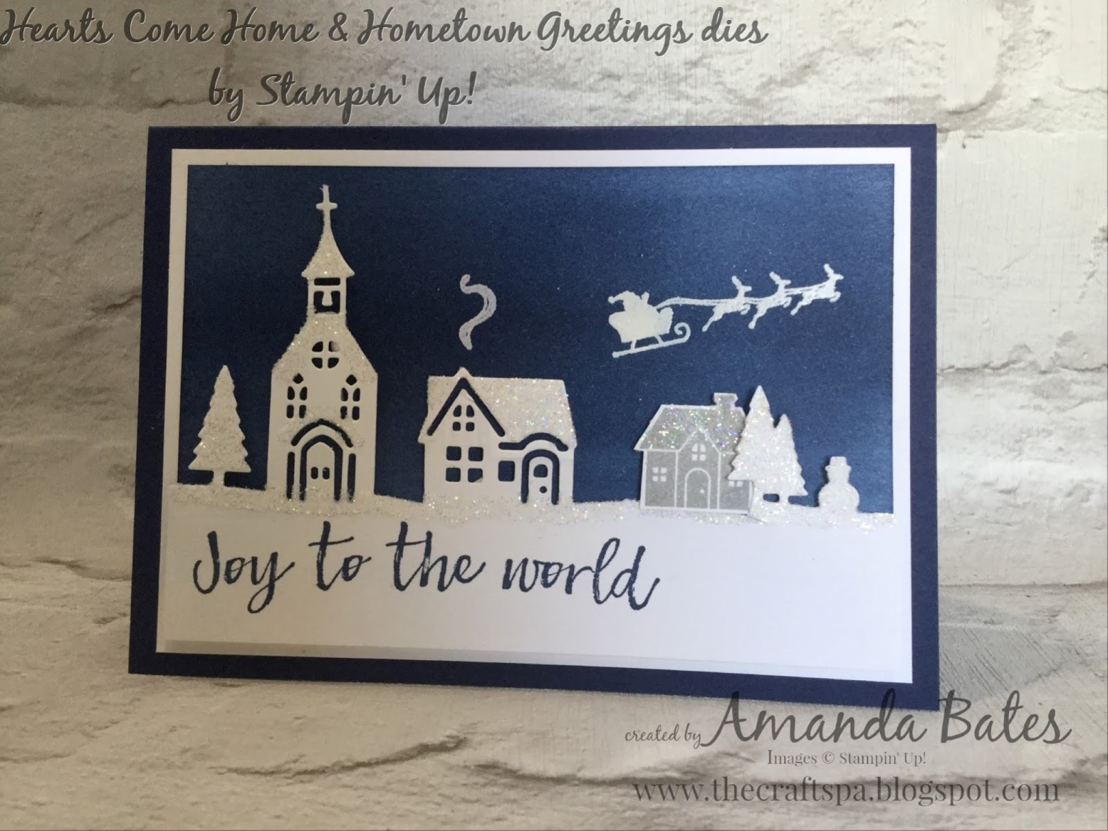 The craft spa stampin up uk independent demonstrator order and a little tip for you the white embossed smoke trail santas sleigh were simply positioned by laying the die cut houses temporarily over the white m4hsunfo