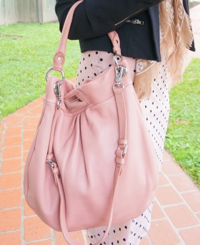Away From The Blue outfit details Marc By Marc Jacobs Hillier Hobo blush pink