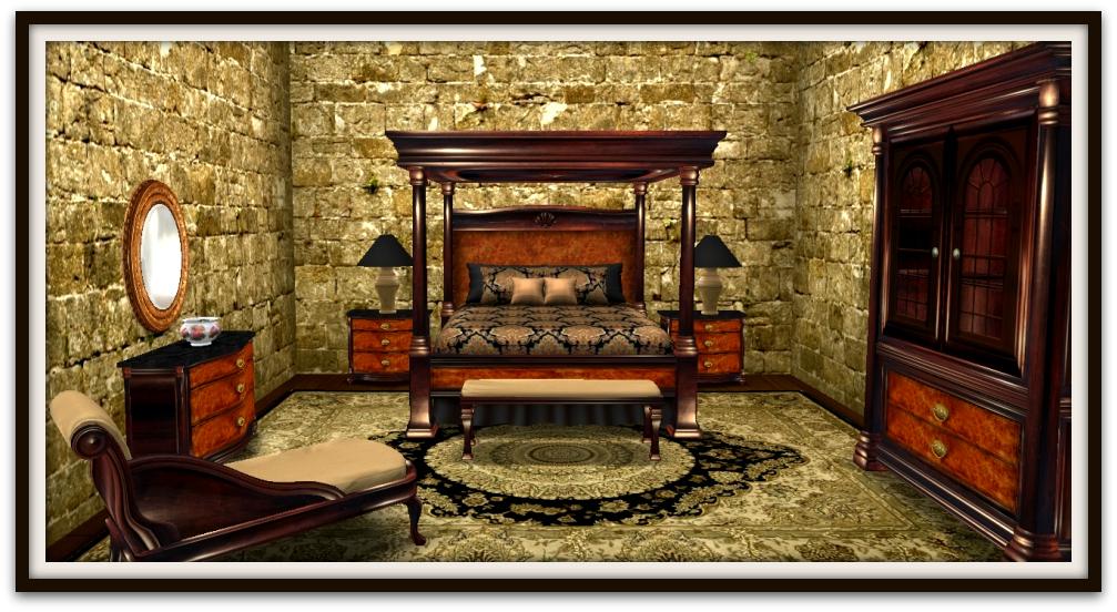 Walnut Regency Bedroom Set Series