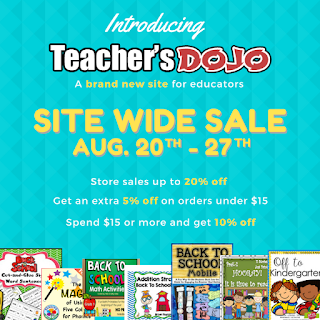 Teacher's Dojo Site Wide Sale 2017