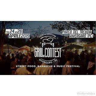 Grill Contest: street food, barbecue e Music festival dal 24 al 28 aprile Rivergaro (PC)