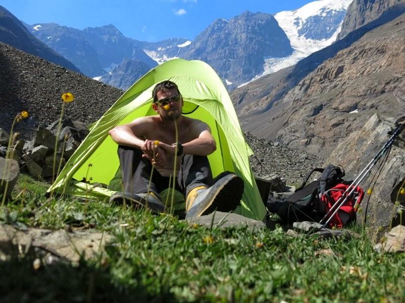 Bergsteiger nach getaner Arbeit