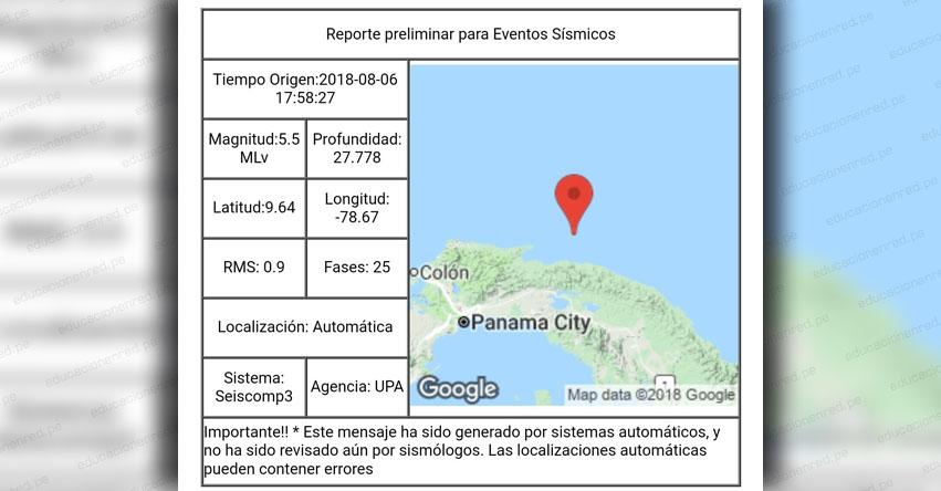 TERREMOTO en PANAMÁ de 5.5 (Hoy Lunes 6 Agosto 2018) Sismo Temblor EPICENTRO Guna Yala - En Vivo Twitter - Facebook - USGS