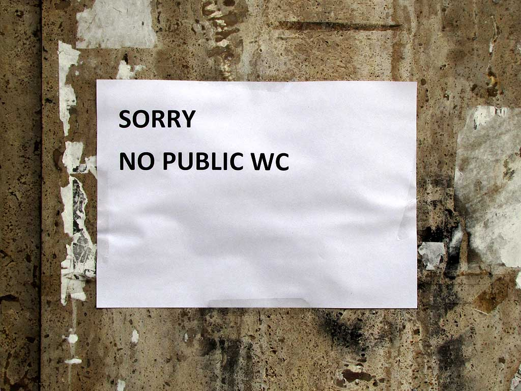 Sorry no public WC, Livorno