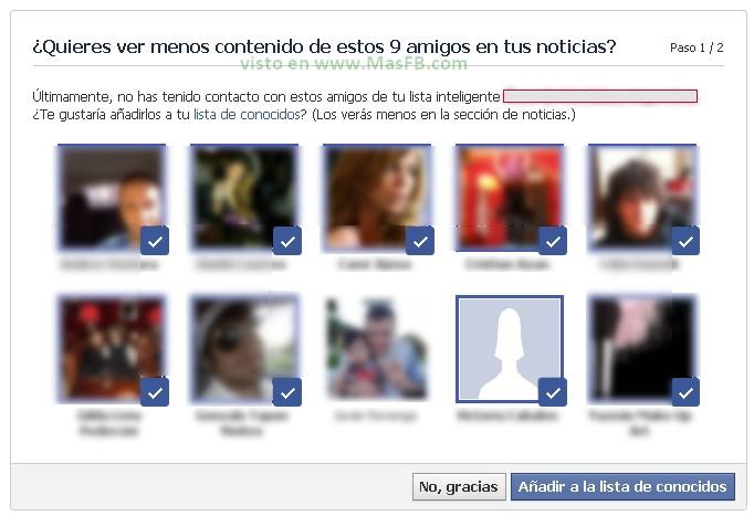 Organizar Conocidos Facebook