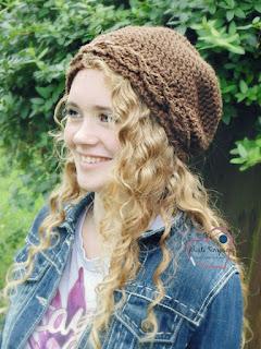 www.KristiSimpson.net, Marlee Slouchy hat, faux cables, crochet pattern