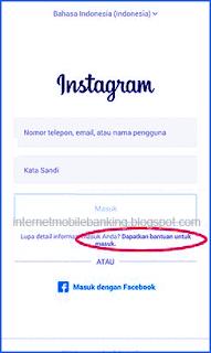 Cara Membuka Instagram Yang Lupa Password Terbaru 2019