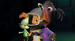Ugly Duckling, Chicken Little, Fish out of Water Chicken Little 2005 animatedfilmreviews.filminspector.com