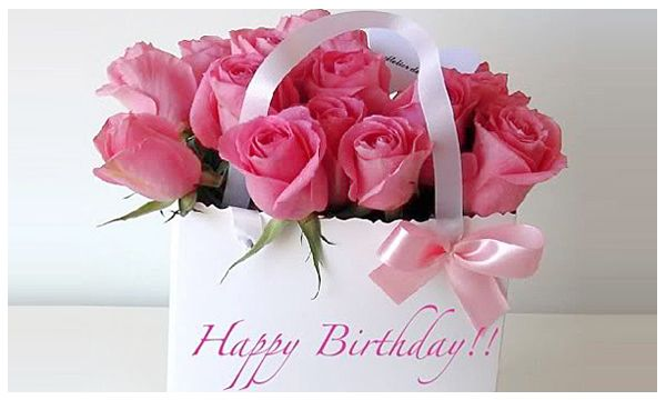 pink birthday rose bouquet