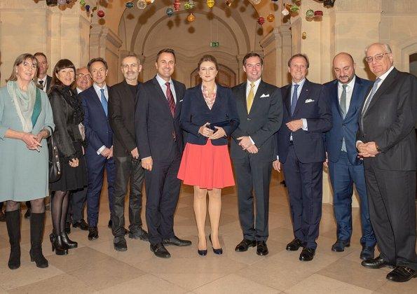 Hereditary Grand Duchess Stephanie and Hereditary Grand Duke Guillaume opened of 2nd edition of Masters Hands exhibition