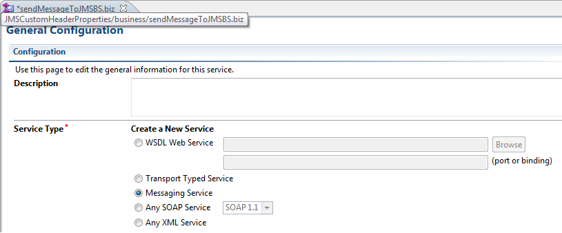 OSB Set JMS Custom Header Properties Create Business Service