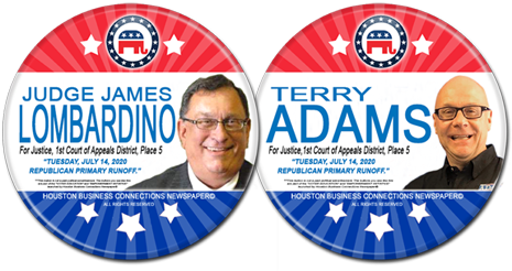 James Lombardino and Terry Adams are the Rep Runoff Candidates for Justice
