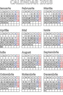 Calendar 2018 Romanesc,
