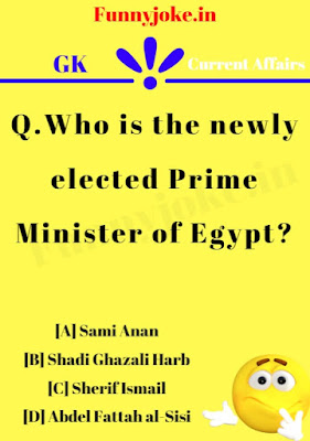 Who is the newly elected Prime Minister of Egypt?