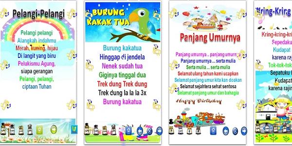 Aplikasi Edukasi Lagu Anak Anak