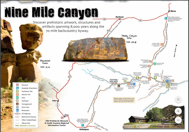 Nine Mile Canyon, Utah trail guide