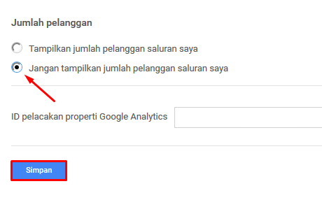 Cara Menyembunyikan Jumlah Subsriber Channel Youtube 3