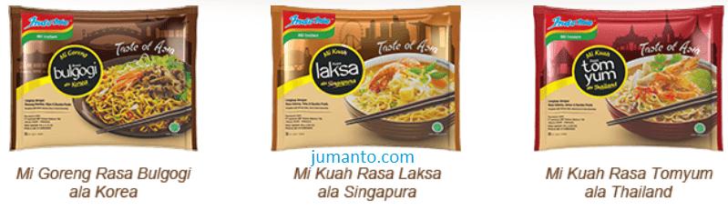 varian indomie taste of asia