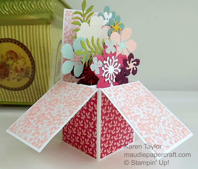 Stampin' Up! Box card using Botanical Builder dies