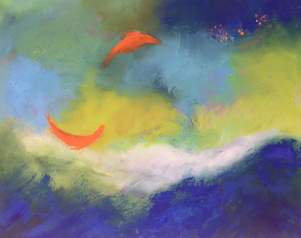 """Daily Painters Abstract Happy Paintings """"abstract 21 """" Amy Whitehouse"""