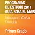 PLAN Y PROGRAMAS DE ESTUDIO 1° PRIMARIA