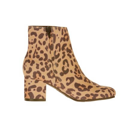 Walmart Time and True leopard mid booties