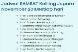 Jadwal Samsat Keliling Jepara | November 2018