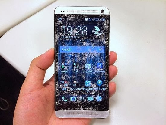 HTC One broken screen