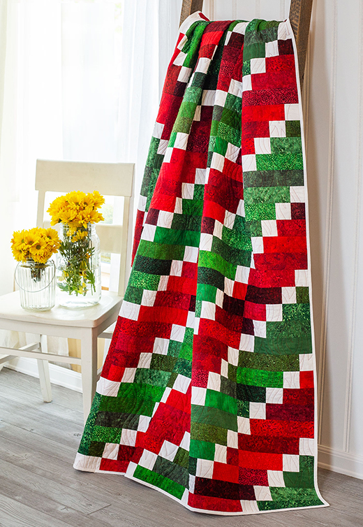 The Watermelon Vortex Quilt Free Pattern designed by Tammy of Shabby Fabrics