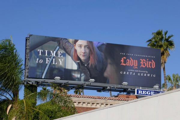 Saoirse Ronan Lady Bird Oscar nominee billboard