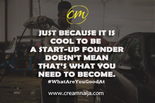 Quit hiding; Just because it is cool to be a start up founder or CEO doesn't mean that's what you are meant to be