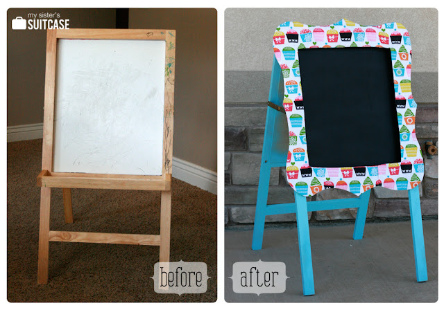 before and after easel