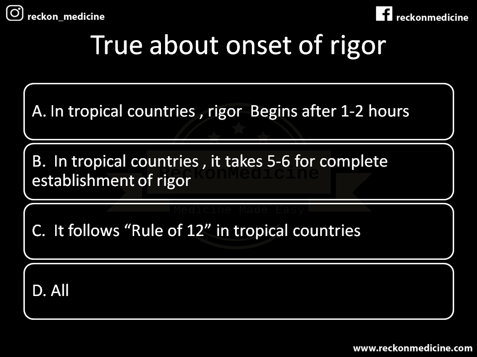 RIGOR MORTIS -POSTMORTEM CHANGE