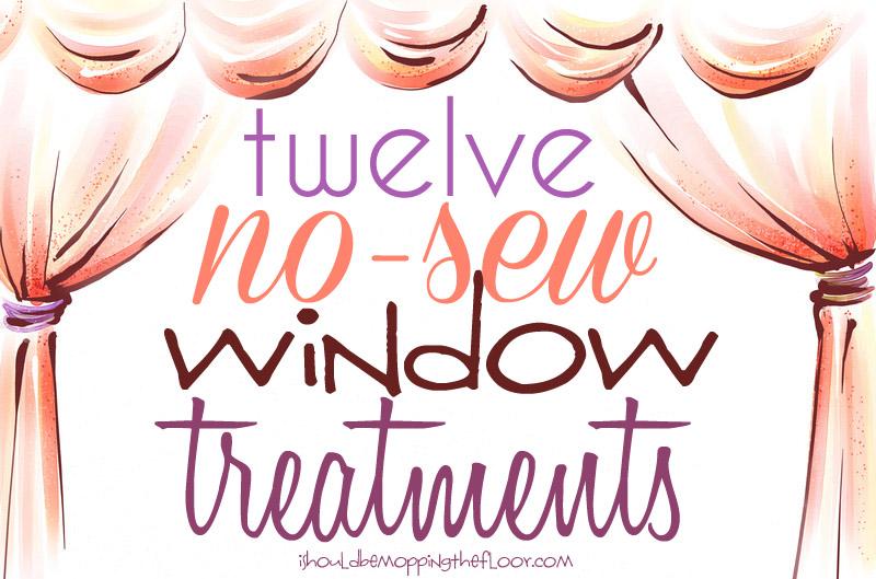 12 No Sew Window Treatments