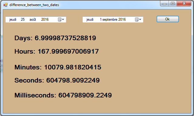 C# Difference Between Two Dates - C#. JAVA.PHP. Programming .Source Code
