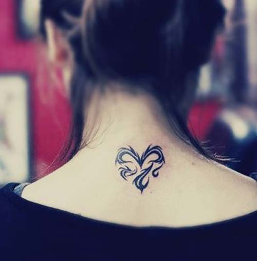 teibal kalp dövmesi tribal heart tattoo