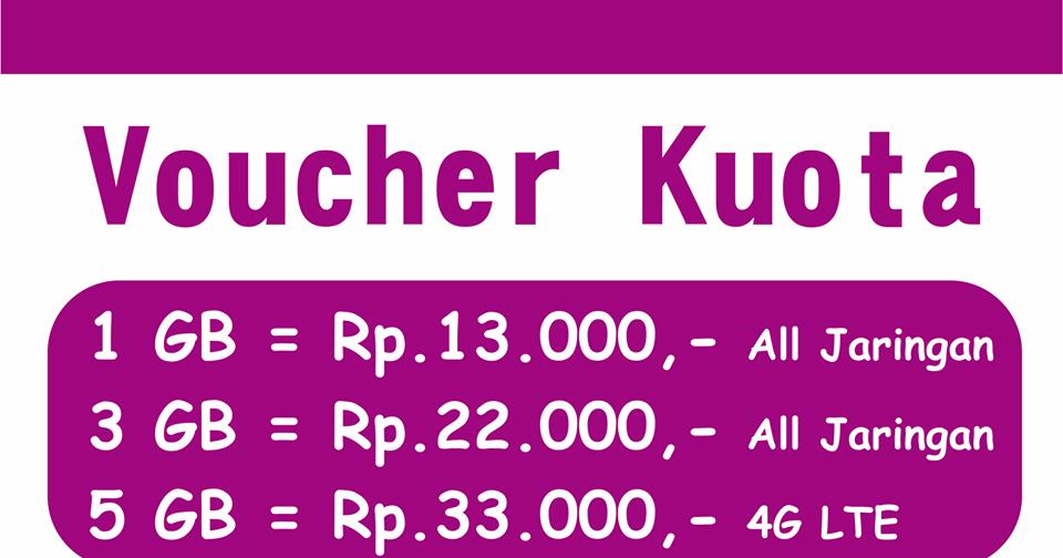 Harga Voucher Kuota - Gumiwang Komunika Indramayu