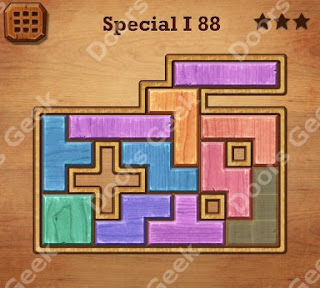 Cheats, Solutions, Walkthrough for Wood Block Puzzle Special I Level 88