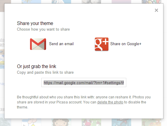 Share Gmail Themes
