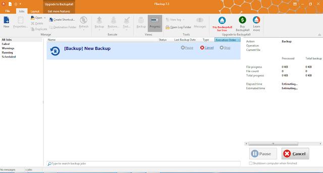Download FBackup Software 7.3 Build 373 Gratis
