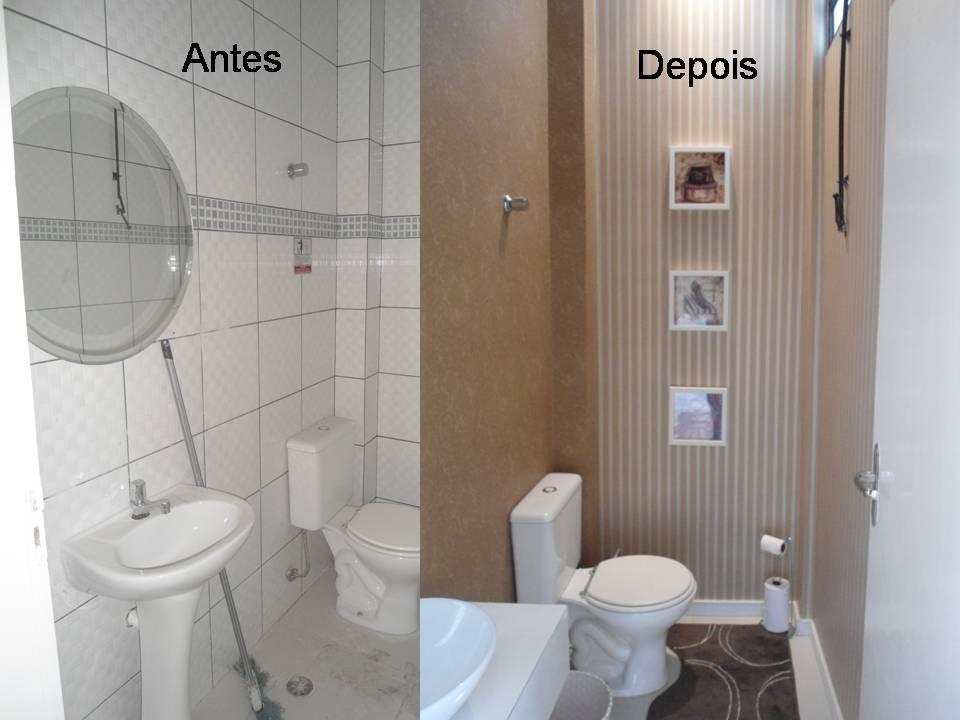 A Casa da Sheila Banheiros antes e depois!!! -> Reforma De Banheiro Pequeno Antes E Depois